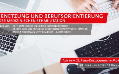 """Diskussionsforum: """"Vernetzung und Berufsorientierung in der medizinischen Rehabilitation"""""""
