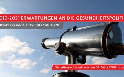"""DEGEMED eröffnet """"therapie Leipzig"""" mit politischem Dialog"""