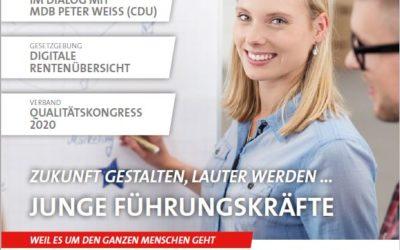 """DEGEMED-Verbandsmagazin titelt """"Junge Führungskräfte: Zukunft gestalten, lauter werden …"""""""