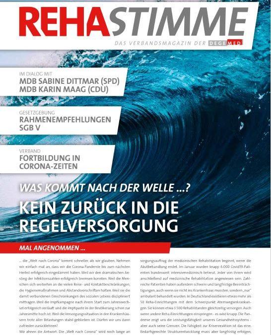"""DEGEMED-Verbandsmagazin: """"Was kommt nach der Welle …? Kein Zurück in die Regelversorgung"""""""
